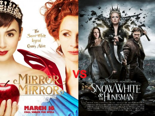 Mirror Mirror vs. Snow White And The Huntsman Movie Posters
