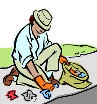 Cleaning up a shore-line; painting a neighbor's fence, or collectively growing a garden in a vacant lot can help a lot of people.