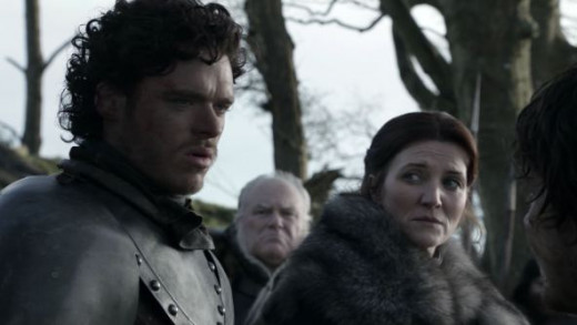 Catelyn Stark and Robb Stark during battle