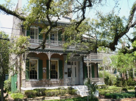 Italianate home on State Street in the De Tonti Historic District downtown.