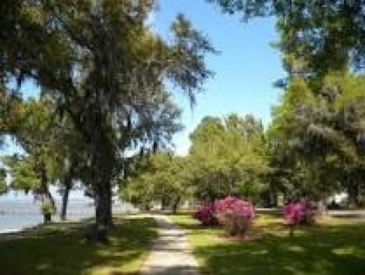 Public grounds of the city of Fairhope feature bike trails.