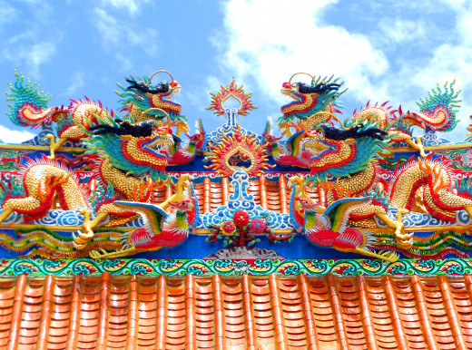 Kuang Im Chinese temple roof detail