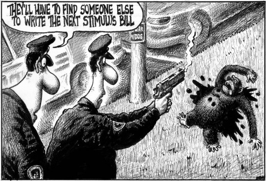 Actual cartoon that appeared in major U.S. papers.