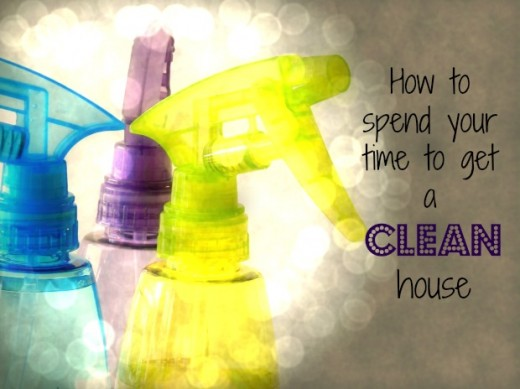 Using the FlyLady method helps you break down your cleaning time into manageable steps.
