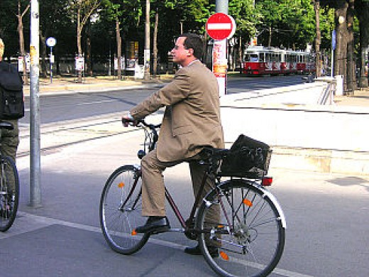 Biking is both leisure and transportation