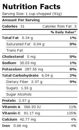 Broccoli Nutritional Information