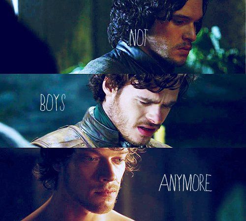 Jon Snow, Robb Stark and Theon Greyjoy