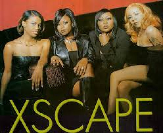 Kandi is at the far left in group photo of Xscape