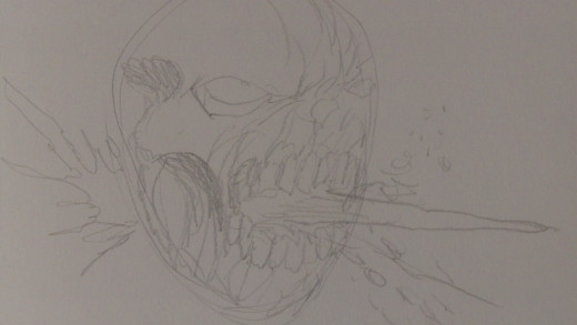 Still sketching the Zombies face