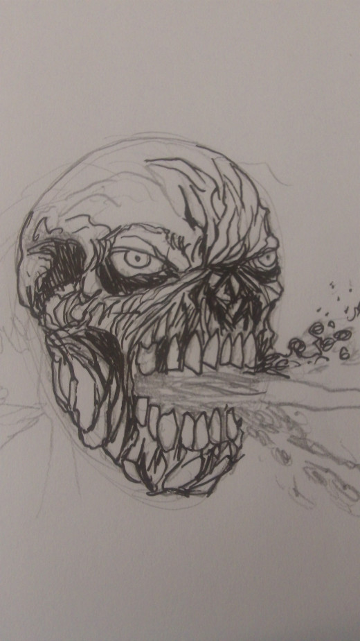 Inking is about improving further on the pencil lines