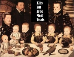 Chain Restaurants Kids Eat Free Deals