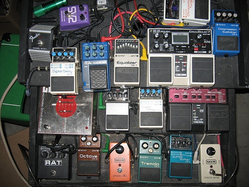 """Play without all of these pedals on?!? But that's how I get my sound!"""