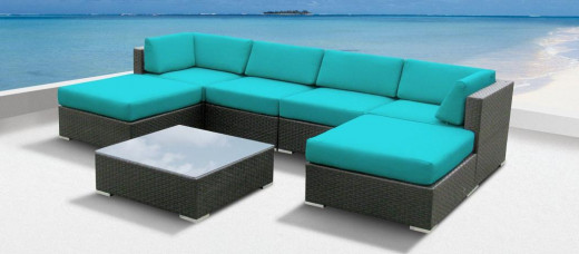 Imagine what a difference a sofa sectional like this one could make to your patio or porch!