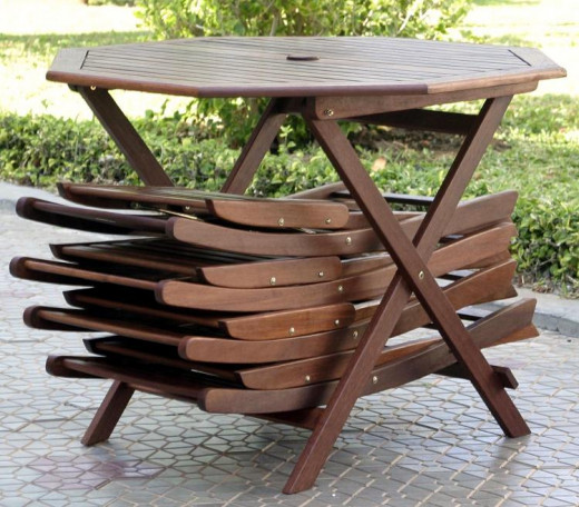 Outdoor furniture doesn't have to take up a lot of space, some products fold and store easily for tight spaces.