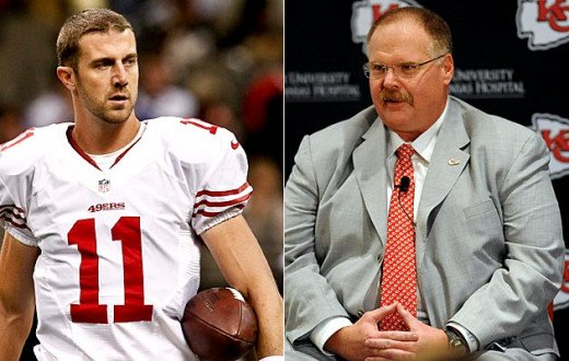 Alex Smith is one QB who will face great pressure to succeed in an AFC West dominated by Peyton Manning's Broncos.