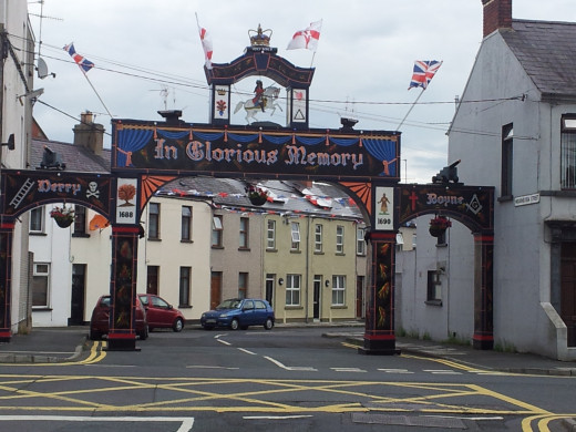 """Arch - """"In Glorious Memory""""  Mourneview Street, Portadown, County Armagh (off Thomas Street, Portadown)"""