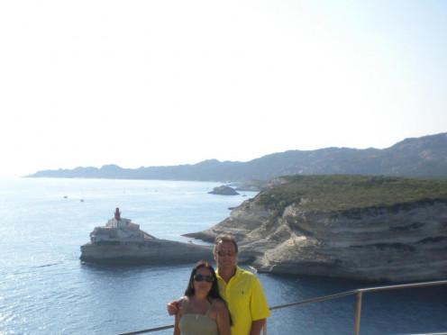 Me & My Husband in Bonifacio, Corsica, France