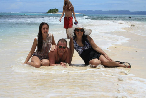 Me, My Husband & Daughter in Naked Island, Surigao, Phil
