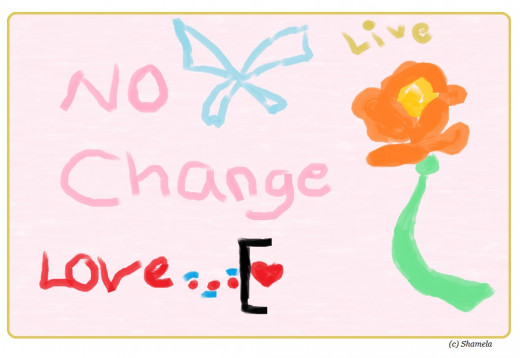 My drawing of an orange rose.