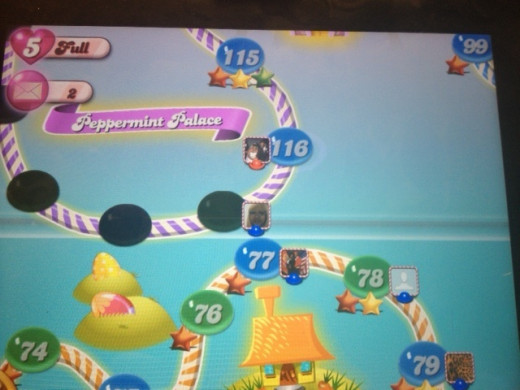 My personal Candy Crush Saga trail showing where my friends and I are on trail.