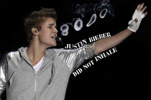 Justin Bieber did not inhale
