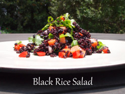 Black Rice Salad Meal (Vegan Recipe)