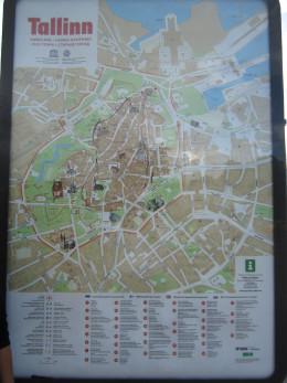 Local map of Old Town in Tallinn, Estonia.