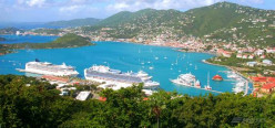 Cruise ships that dock daily at Charlotte Amalie, St. Thomas in U.S. Virgin Islands.