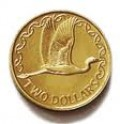 The Great Eastern Egret is featured on the New Zealand $2 coin