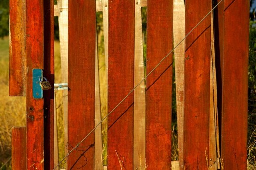 Painting fences is a great way to earn extra money.