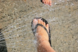 Keeping the balance between good bacteria and the bad bacteria will fend off smelly feet. Washing them properly is the first step in combatting odor.
