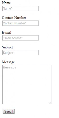 Contact Form in PHP using jQuery AJAX