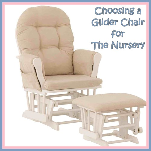 This is a glider chair and ottoman from Stork Craft available from Amazon (please see our recommended chairs below)