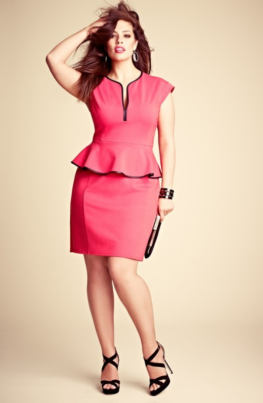 Peplum Dress: A sexy pink figure flattering peplum dress that graces your curves just so