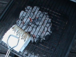Oiling grill grate