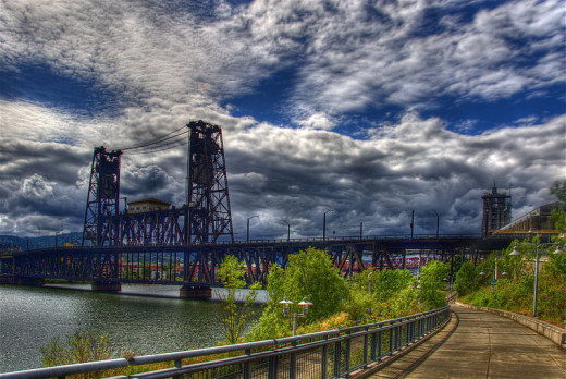 The Eastbank Esplande in southeast Portland