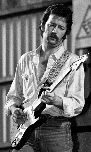 Eric Clapton onstage in 1977