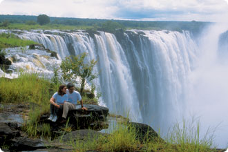 Victoria Falls - The Victoria falls is 1 708 meters wide making it the largest curtain of water in the world It drops between 90m and 107m into the Zambezi ...