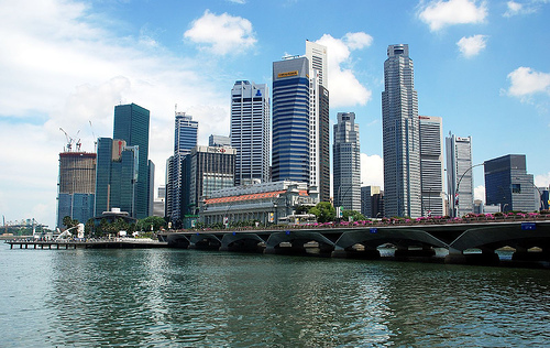 Singapore skyline from the Esplanade