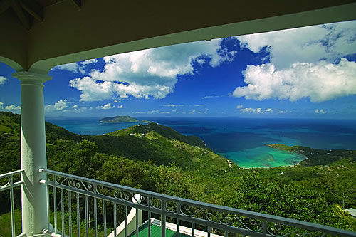 View from a balcony in the Virgin Islands.