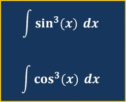 How to Integrate sin(x)^3 and cos(x)^3, Sine Cubed and Cosine Cubed