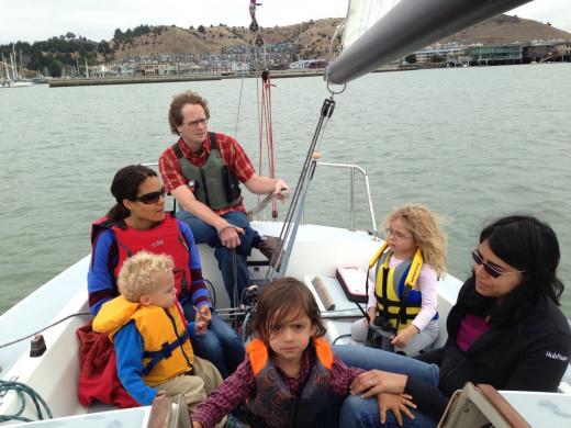 Family Sailing on San Francisco Bay