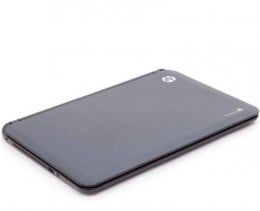 The HP Chromebook is less than an inch thick and features a 14-inch HD-quality display.