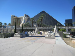 Luxor Resort on Las Vegas Strip a short walk for the Desert Rose Resort