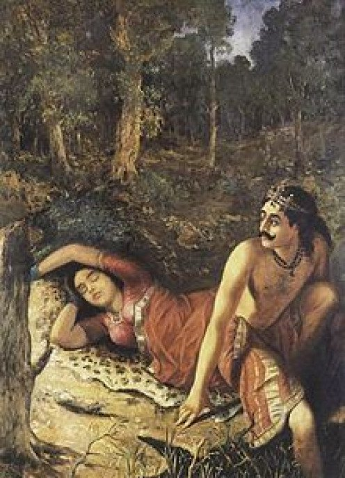 Nala Abandons Damayanti in the Forest