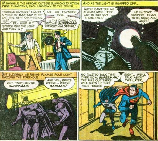 Superman #76 - Secret identities revealed
