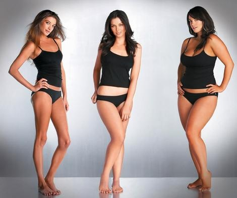 I love this image because all 3 bodies are attractive, yet each is different.