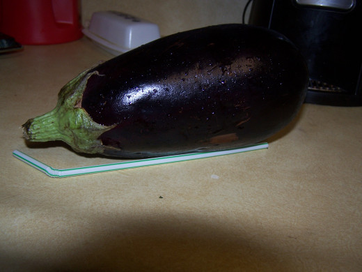 Start out with the eggplant