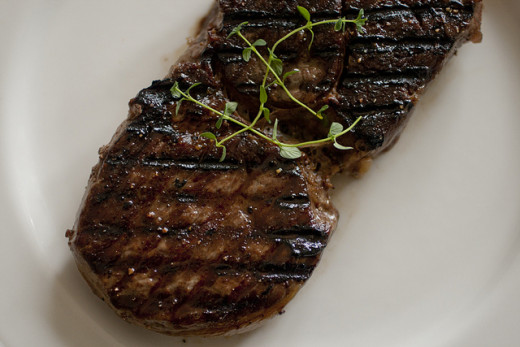 Surprisingly digesting steak will burn up more energy than digesting fibre-rich vegetables.