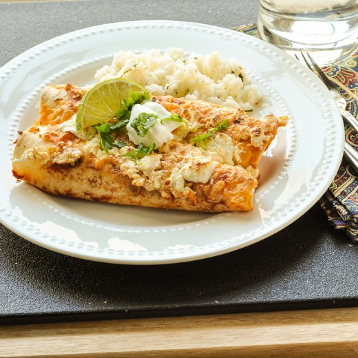 The Best Ever Sweet Potato Enchiladas